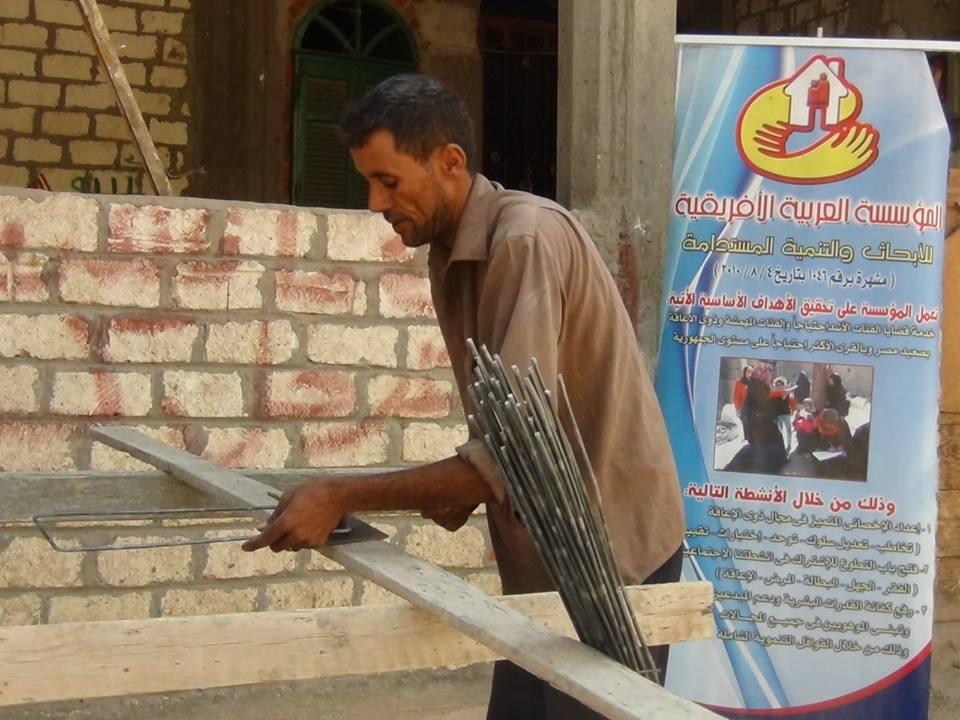 Photo of تقوم المؤسسة ببناء منزل لأسرة فقيرة