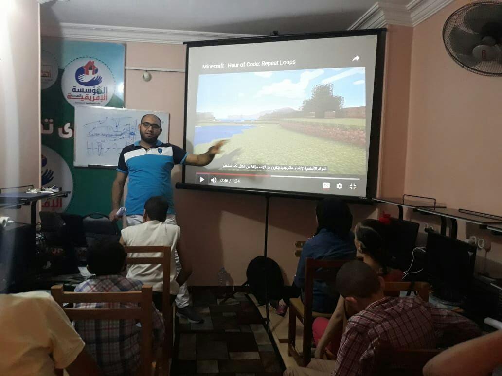 Photo of بدء فاعليات دورة البرمجه للأطفال للمؤسسة العربية الافريقية